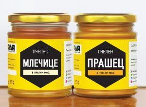 Пчелно млечице в мед и пчелен прашец в мед