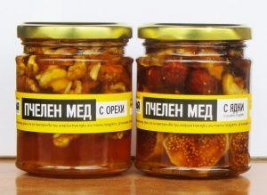 Мед с орехи и мед с ядки и сушени плодове
